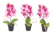 3er Set Orchideen 20x4cm Rosa Weiß Kunstblume Deko Pflanze