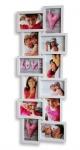 Bilderrahmen in weiß für 12 Fotos 3D Optik weiße Fotogalerie Collage