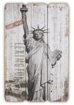 Wandbild aus Holz USA New York Freiheitsstatue Wandschild Holzbild