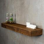 levandeo Wandregal Holz Massiv 100x20cm Nussbaum Farbig Wandboard Regal Vintage
