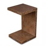levandeo Couchtisch Coco Holz 32x32x50cm Rost-Optik Tisch Beistelltisch Deko