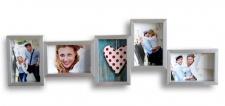 Galerierahmen in silber 5 Fotos Bilderrahmen Fotogalerie Fotocollage