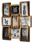 levandeo Bilderrahmen Collage 45x45cm 9 Fotos 10x15cm Kupfer Industrial Glas