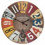 XXL Wanduhr mit Pendel Großuhr Vintage Uhr Holz Shabby 58cm Retro