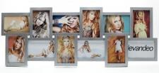 Bilderrahmen silber für 12 Fotos 3D Optik Galerie Fotogalerie Collage