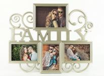 Fotogalerie gold champagner 4 Fotos FAMILY Bilderrahmen Collage Fotos