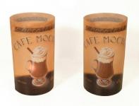 2er Set Kerzenschirme für Teelicht Windlicht - Cafe Mocha