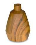 Lampenschirm Akazie 15x22cm Holz Blatt Gold für Deckenleuchte Hängeleuchte