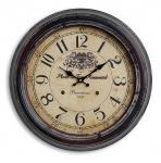 Wanduhr XXL 47cm Metall Barcelona - Nostalgie Großuhr Bahnhof Uhr
