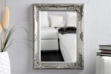 Spiegel Wandspiegel Flurspiegel silber gold bronze shabby 45x55x5cm