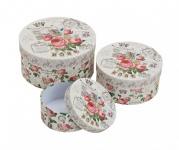3er Set Dosen Schachteln Boxen Aufbewahrung romantisch Shabby Vintage