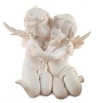Engel Figur 15x12, 5x12cm Weiß Engelpaar Schutzengel Geschenk Deko