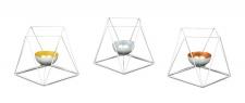 3er Set Teelichthalter Metall Windlicht Weiß Kerzenständer Deko Tischtedeko