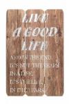 Holz-Schild Wandschild Spruch Good Life Holzbild Wandbild Bild Vintage