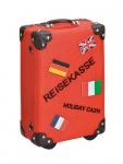 Spardose rot Sparkoffer Koffer Sparschwein Urlaubskasse Urlaub Sparen