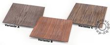 Hochwertige Schale eckig 30cm Kunststoff Holz Oberfläche Dekoration