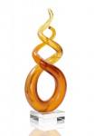 Designer Skulptur aus Glas - 24x9cm - Design Glasskulptur Unikat