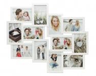 Bilderrahmen weiß 12 Fotos Fotogalerie Fotocollage Collage Galerie