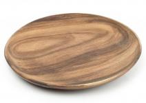 Holzteller Akazie rund 30cm Holz Schale Obstteller Deko Unikat