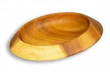 Schüssel Akazie 28x7cm Holz Design Schale Obstschale Obstkorb Brotkorb Unikat