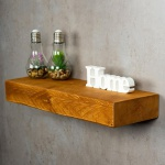 levandeo Wandregal Holz Massiv 60x20cm Teak Farbig Wandboard Regal Vintage Bord