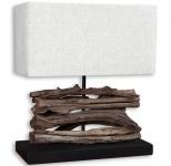 Tischlampe 35x15cm u. 40cm hoch Holzlampe Tischleuchte Holz Treibholz