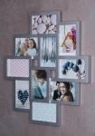 Bilderrahmen silber 10 Fotos Fotogalerie Fotocollage 3D Optik Collage