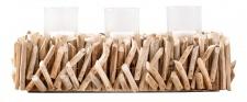 Windlicht L50cm Tischdeko Kerzenständer Kerzenhalter Treibholz Wohndeko