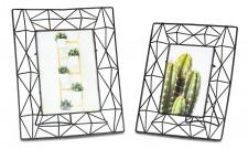 2er Set Bilderrahmen Schwarz Metall 10x15+13x18 Fotorahmen Industrial Style Glas