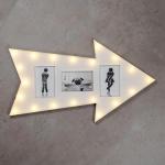 LED Leuchtpfeil 65 x 37 cm Weiß Pfeil Beleuchtung Lampe Leuchte Wandleuchte