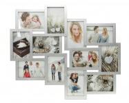 Bilderrahmen silber 12 Fotos Fotogalerie Fotocollage Collage Galerie