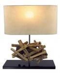 Tischlampe Höhe 42cm Treibholz Tischleuchte Holz Lampe Teakholz Deko Tischdeko