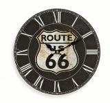 Wanduhr Holz Amerika USA Route 66 schwarz Holzuhr römische Ziffern
