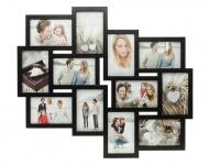 Bilderrahmen schwarz 12 Fotos Fotogalerie Fotocollage Collage Galerie