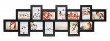 Bilderrahmen Holz schwarz 14 Fotos 10x15 Fotorahmen Collage Galerie