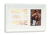 LED Bilderrahmen Home Sweet Home Fotorahmen Holz weiß Dekoration