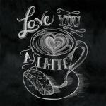 levandeo Glasbild 30x30cm Wandbild Bild Glas Latte Coffee Kaffee Wanddeko