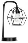 levandeo Tischlampe Metall Schwarz LED 33cm Hoch Lampe Standleuchte Leuchte Deko