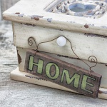 levandeo Glasbild 30x30cm Wandbild Bild Glas Home Shabby Chic Vintage Landhaus