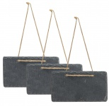 3x Schiefertafel 17x9cm Kreidetafel Schieferplatte Tafel Memotafel Türschild