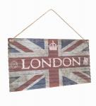 Schild 60x30x1cm Blechschild London England Queen Flagge Wandbild Deko