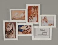 Bilderrahmen weiß 6 Fotos 3D Optik weiße - Fotogalerie Fotocollage