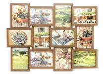 Fotogalerie Holz Nussbaum 12 Fotos 13x18 Glasscheibe Bilderrahmen