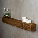 levandeo Wandregal Holz Massiv 100x10cm Nussbaum Farbig Wandboard Regal Vintage