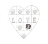 XXL Kartenhalter 65x57cm Herz Metall Weiß Postkartenhalter Memohalter