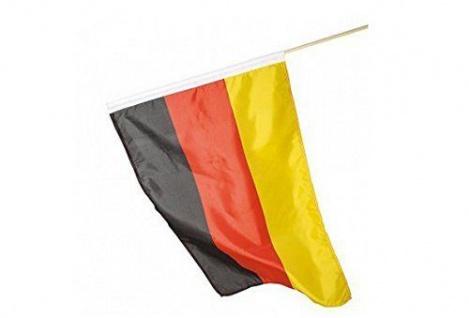 Deutschl WM Fanartikel Fahne / Stockfahne / Schwenkfahne ** Deutschl 45x30 cm **