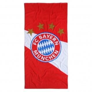 "FC Bayern Duschtuch / Strandtuch "" Diagonal "" ( weiß/rot)"