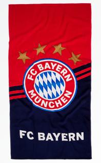 FC Bayern München Duschtuch / Strandtuch ** Logo ** rot / blau 22645