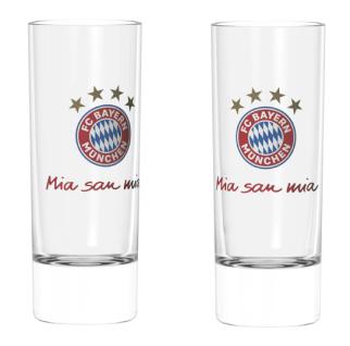 FC Bayern München Schnapspinnchen / Schnapsglas ** Mia san mia ** 2er-Set 22979