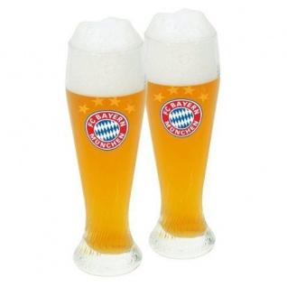 FC Bayern München Weißbierglas / Weizenbierglas 2er Set (Glas / Bierglas)